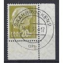 Mi. Nr. 419 Eckrand rechts unten mit Formnummer 2 gestempelt