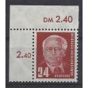 Mi. Nr. 252 im Eckrand links oben postfrisch
