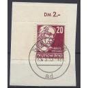 Mi. Nr. 333 im Eckrand links oben schön gestempelt auf Briefstück