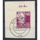 Mi. Nr. 336 im Eckrand links oben auf Briefstück