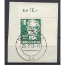Mi. Nr. 330 im Eckrand rechts oben schön gestempelt auf Briefstück