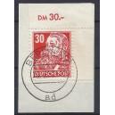 Mi. Nr. 335 im Eckrand rechts oben auf Briefstück