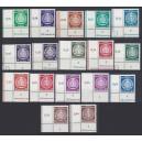 Mi. Nr. 1-17 Dienstmarken A im Eckrand links unten