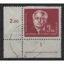 Mi. Nr. 254 im Eckrand links unten mit Druckvermerk DV und Druckerzeichen DZ