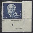 Mi. Nr. 255 Eckrand rechts unten mit Druckvermerk DV postfrisch
