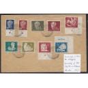 Sammlerbrief mit Mi. Nr. 260 mit Druckvermerk DV im Eckrand rechts unten mit Poststempel. Sehr selten!