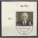 Mi. Nr. 342 im Eckrand links oben auf Briefstück