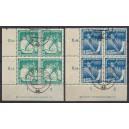 Mi. Nr. 298/99 gestempelt Eckrandviererblock links unten mit Druckerzeichen