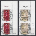 Mi. Nr. 1572/73 im senkrechten Eckrandpaar rechts oben gestempelt