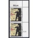 Mi. Nr. 1703 im senkrechten Eckrandpaar rechts oben gestempelt