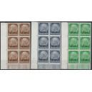 Mi. Nr. 1- 16 Elsaß Eckrandvierer links unten mit Druckerzeichen