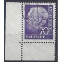 Mi. Nr. 263 w Eckrand rechts unten mit Formnummer 3