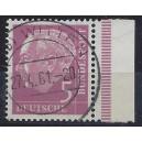 Mi. Nr. 179y P Heuss lumogen Randstück rechts Luxus gestempelt