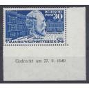Mi. Nr. 116 Br Eckrand rechts unten postfrisch mit Fotoattest von Hans-Georg Schlegel.
