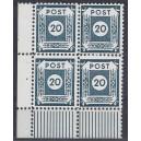 Mi. Nr. 48 D II a Eckrandviererblock links unten postfrisch