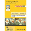 FB 1ba postfrisch Blumen Narzisse mit gelbem Aufkleber. Selten!