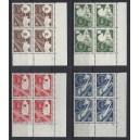 Mi. Nr. 167-170 Eckrandviererblock rechts unten