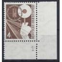 Mi. Nr. 167 Eckrand rechts unten Formnummer 1