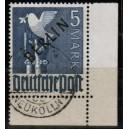 Mi. Nr. 20 Eckrand rechts unten  gestemelt Eckrand