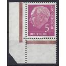 Mi. Nr. 179 v Eckrand links unten Plattendruck aus Markenheftchenbogen postfrisch.