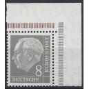 Mi. Nr. 182 YII Eckrand rechts oben postfrisch Plattendruck aus Markenheftchenbogen.