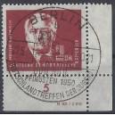 Mi. Nr. 254 a Druckvermerk Eckrand rechts unten gestempelt und geprüft von Herrn Schönherr.