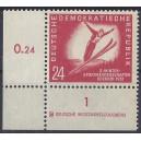 Mi. Nr. 281 Druckerzeichen Eckrand links unten postfrisch