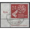 Mi. Nr. 275 Druckerzeichen Eckrand links unten gestempelt