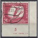 Mi. Nr. 281 Druckvermerk Eckrand rechts unten gestempelt