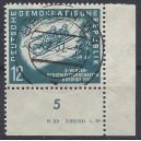 Mi. Nr. 280 Druckvermerk Eckrand rechts unten zentrisch gestempelt