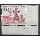 Mi. Nr. 290 im Eckrand rechts unten mit Formnummer 2 und Plattennummer 1 als Blinddruck postfrisch.
