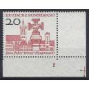 Mi. Nr. 290 im Eckrand rechts unten mit Formnummer 2 und Plattennummer 1 postfrisch.