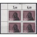 Mi. Nr. 537 postfrisch Eckrandviererblock links oben