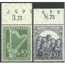 Mi. Nr. 72/73 Oberrandstücke postfrisch