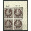 Mi. Nr. 75 Eckrandviererblock rechts oben postfrisch