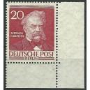 Mi. Nr. 97 Eckrand rechts unten postfrisch mit Formnummer 2