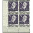 Mi. Nr. 96 Eckrandviererblock links unten postfrisch mit Formnummer 1.