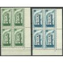 Mi. Nr. 241/242 Eckrandviererblöcke rechts unten postfrisch mit Formnummer 2
