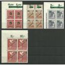Mi. Nr. 64-67 Eckrandviererblöcke links oben postfrisch