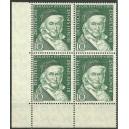 Mi. Nr. 204 Eckrandviererblock links unten postfrisch