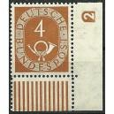 Mi. Nr. 124  Eckrandstück mit Druckerzeichen negativ 2