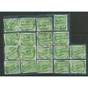 Rollenmarkenrarität!! Mi. Nr. 47II 13 mal auf Postsparkarte mit 5 Normalmarken