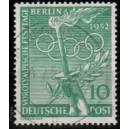 Mi. Nr. 89y mit waagerechter Gummiriffelung mit Berlinstempel