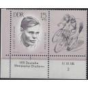 Mi. Nr. 960 Du Eckrandpaar links unten mit Druckvermerk DV postfrisch