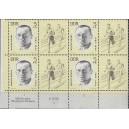 Mi. Nr. 958 Eckrand als große Einheit links unten mit Druckvermerk DV postfrisch