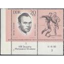 Mi. Nr. 961 Eckrandpaar links unten mit Druckvermerk DV postfrisch