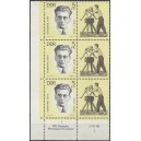 Mi. Nr. 983 Eckrand als große Einheit links unten mit Druckvermerk DV postfrisch