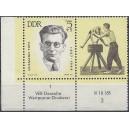 Mi. Nr. 983 Eckrandpaar links unten mit Druckvermerk DV postfrisch
