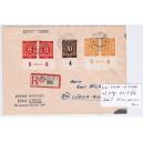 Mi. Nr. 917 Hausauftragsnummer und 2x 917P OR auf portogerechtem Einschreibebrief