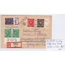 Mi. Nr. 927 Hausauftragsnummer und 944P OR auf portogerechtem Einschreibebrief